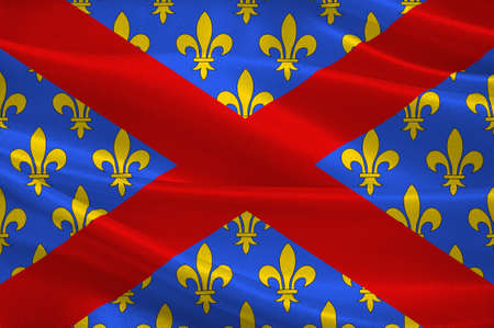 Flag of Langres is a commune in northeastern France. It is a subprefecture of the department of Haute-Marne, in the region of Grand Est. 3d illustration Stock Photo