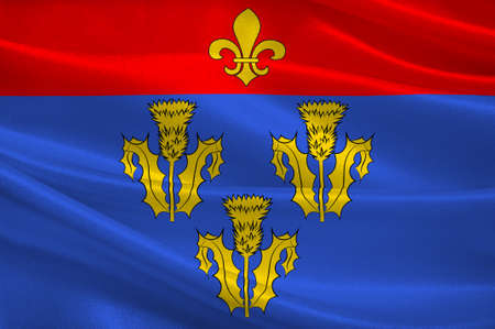 Flag of Pithiviers is a commune in the Loiret department in north-central France. 3D illustration