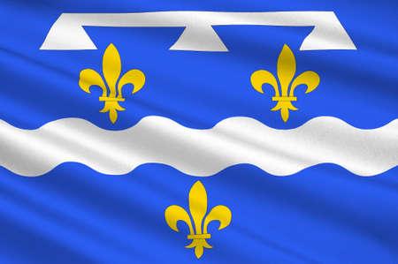ロワレ県の旗は北部フランスの部...