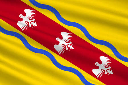 Flag of Meurthe-et-Moselle is a department in the Grand Est region of France. 3d illustration