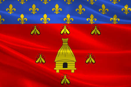 leger: Flag of Brioude is a commune in the Haute-Loire department in the Auvergne region in south-central France. 3D illustration