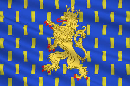 Flag of Franche-Comte is a former administrative region and a traditional province of eastern France. 3d illustration