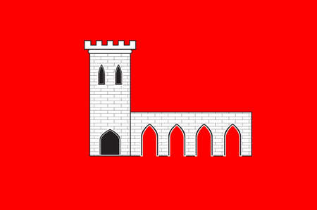 Flag of Pontarlier is a commune and one of the two sub-prefectures of the Doubs department in the Bourgogne-Franche-Comte region in eastern France. 3D illustration