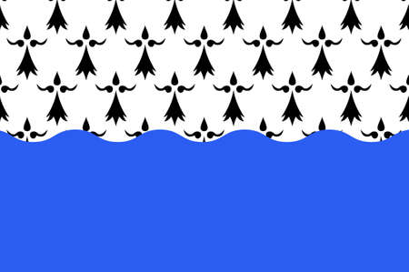 bretagne: Flag of Morbihan is a department in Brittany, situated in the northwest of France. 3D illustration