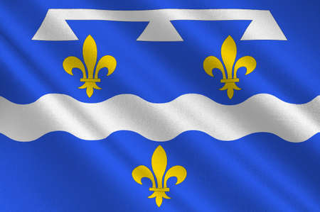 orleans symbol: Flag of Loiret is a department in north-central France. 3d illustration