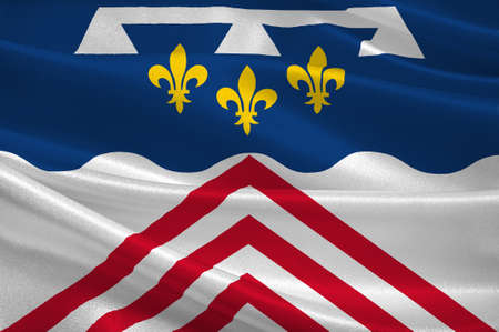 orleans symbol: Flag of Eure-et-Loir is a French department, named after the Eure and Loir rivers. 3d illustration