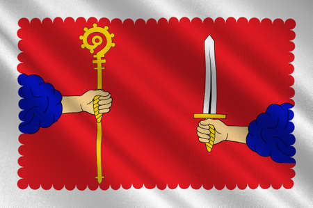 leger: Flag of Haute-Loire is a department in south-central France. 3d illustration
