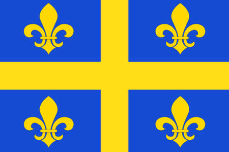 Flag of Chalons-en-Champagne is capital of Marne and the region of Champagne-Ardenne in France. 3d illustration Stock Photo