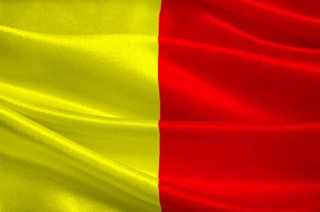 Le drapeau d'Orléans est une ville du centre-nord de la France, c'est la capitale du département du Loiret et du Centre-Val de Loire. Illustration 3d Banque d'images - 82596649