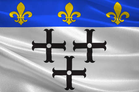 Flag of Moulins is a commune in central France, capital of the Allier department. 3D illustration