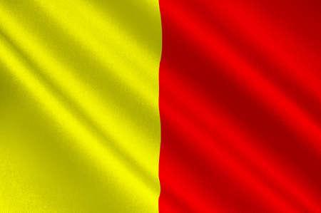 Le drapeau d'Orléans est une ville du centre-nord de la France, c'est la capitale du département du Loiret et du Centre-Val de Loire. Illustration 3d Banque d'images - 82607412
