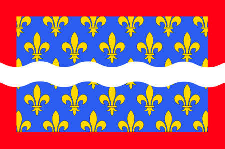 orleans symbol: Flag of Cher is a department in the Centre-Val de Loire region of France. It is named after the Cher River. 3d illustration