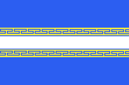Flag of Marne is a department in Grand Est is a French administrative region of north-eastern France. 3d illustration