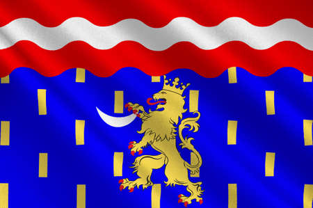 Flag of Haute-Saone is a French department of the Franche-Comte region named after the Saone River. 3d illustration Stock Photo