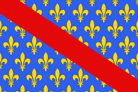 Flag of Allier is a French department located in the Auvergne-Rhone-Alpes region of central France. 3d illustration