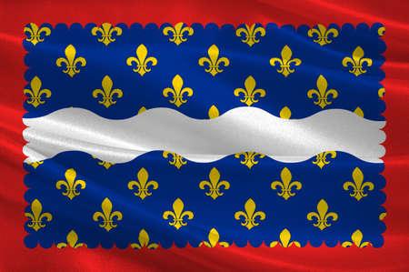 Drapeau de l & # 39 ; est est un département dans la région de ryazan région de la france france illustration Banque d'images - 82597144