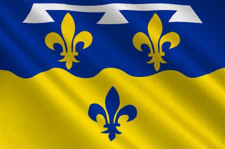 Flag of Loir-et-Cher est un département dans la région Centre-Val de Loire, France. Illustration 3D Banque d'images - 82607640