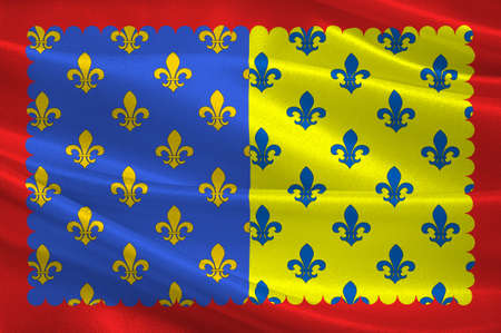 Flag of Saint-Flour is a commune in the Cantal department in the Auvergne region in south-central France. 3D illustration Imagens - 82598174