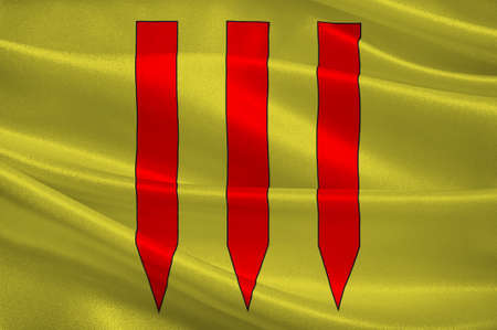 Flag of Val de Briey is a commune in the department of Meurthe-et-Moselle, northeastern France. 3d illustration Stock Photo