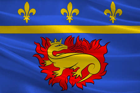 Flag of Vitry-le-Francois is a commune in the Marne department in north-eastern France. 3d illustration Stock Photo