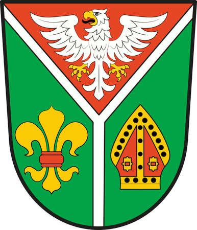 Coat of arms of Ostprignitz-Ruppin is a district in Brandenburg, Germany. Vector illustration