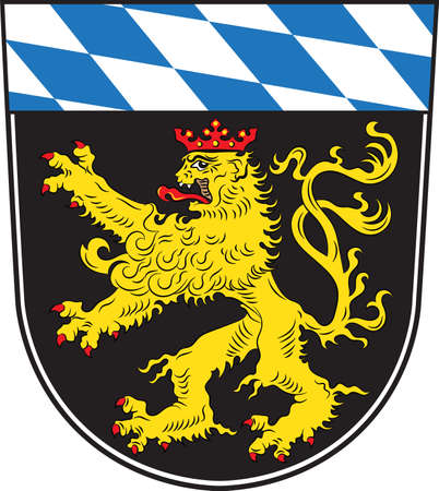 Coat of arms of Upper Bavaria is one of the seven administrative districts of Bavaria, Germany. Vector illustration