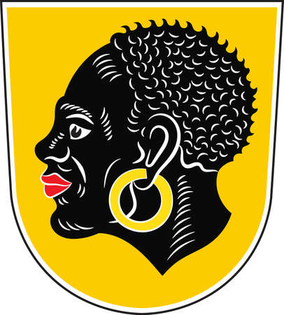 Coat of arms of Coburg is a town in the Upper Franconia region of Bavaria, Germany. Vector illustration from the Heraldry of the World authors and compilers Olga Bortnik, Ivan Rezko, 2008