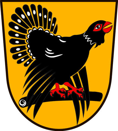 Coat of arms of Freudenstadt is a district in the middle of Baden-Wurttemberg, Germany. Vector illustration from the Heraldry of the World authors and compilers Olga Bortnik, Ivan Rezko, 2008 Illustration