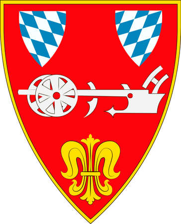 Coat of arms of Straubing is an independent city in Lower Bavaria, southern Germany. Vector illustration