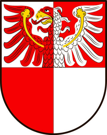 Coat of arms of Barnim is a district in Brandenburg, Germany. Vector illustration
