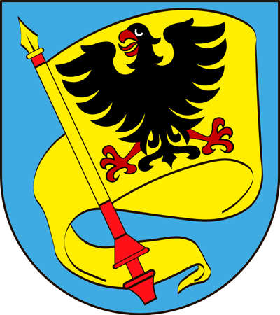 Coat of arms of Ludwigsburg is a city in Baden-Wurttemberg, Germany. Vector illustration from the Heraldry of the World authors and compilers Olga Bortnik, Ivan Rezko, 2008 Illustration