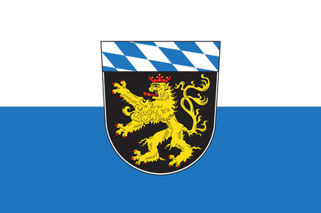 Flag of Upper Bavaria is one of the seven administrative districts of Bavaria, Germany. Vector illustration