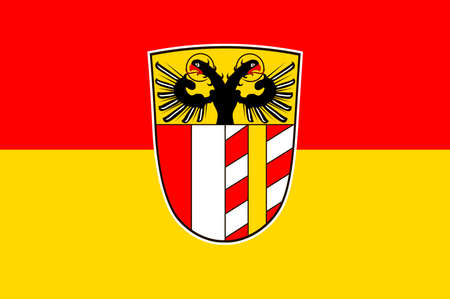Flag of Swabia is one of the seven administrative regions of Bavaria, Germany. Vector illustration Illustration