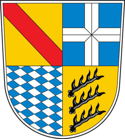 Coat of arms of Karlsruhe is a district in the northwest of Baden-Wurttemberg, Germany. Vector illustration
