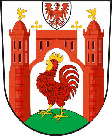 Coat of arms of Frankfurt (Oder) is a town in Brandenburg, Germany. Vector illustration