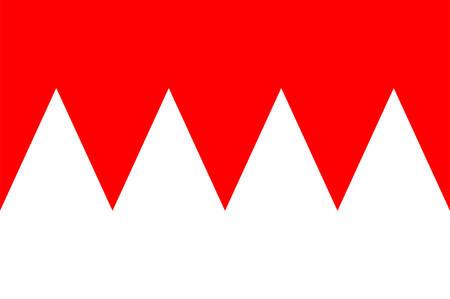 Flag of Franconia is a region in Germany. Vector illustration Illustration
