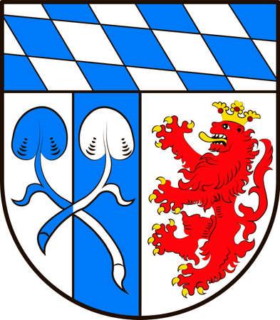 Coat of arms of Rosenheim in Upper Bavaria of Germany. Vector illustration Illustration