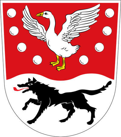 Coat of arms of Prignitz is a district in the northwestern part of Brandenburg, Germany. Vector illustration
