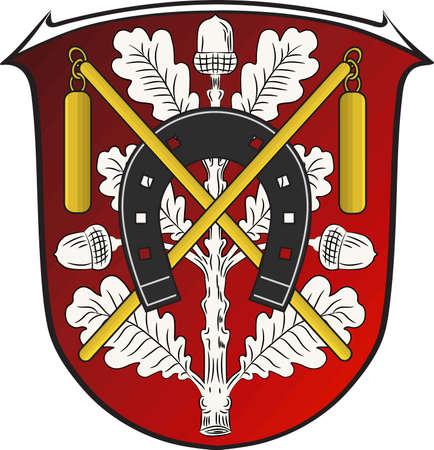 Coat of arms of Moerfelden-Walldorf Illustration