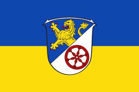 Flag of Rheingau-Taunus Illustration
