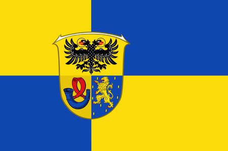 hessen: Flag of Lahn-Dill Illustration