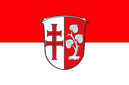 hessen: Flag of Hersfeld-Rotenburg Illustration