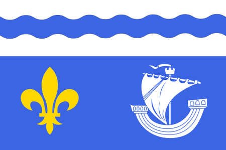 Flag of Hauts-de-Seine is a French department in the Ile-de-France region. 3d illustration