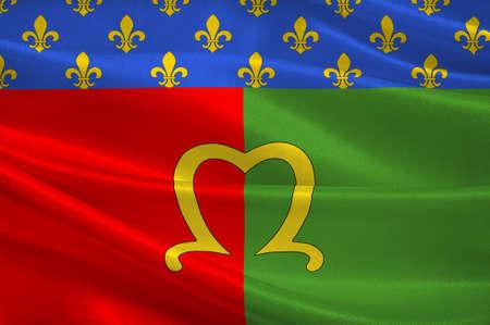 Flag of Meaux is a commune in the Seine-et-Marne department in the Ile-de-France region in the metropolitan area of Paris, France. 3d illustration Stock Photo