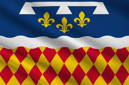 Flag of Charente is a department in southwestern France, in the Nouvelle-Aquitaine region. 3d illustration  Stock Photo