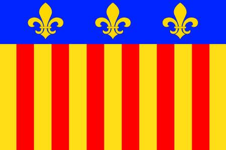 Millau의 국기는 프랑스 남부의 프랑스 미디 피레네 지역에있는 Aveyron 부서의 코뮌입니다. 차원 그림