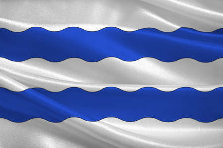 Bandiera di Nanterre è un comune nel dipartimento di Hauts-de-Seine, la periferia occidentale di Parigi, in Francia. Illustrazione 3D Archivio Fotografico - 91626830