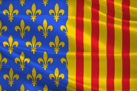 Flag of Lozere is a department in the region of Occitanie in southern France near the Massif Central. 3d illustration