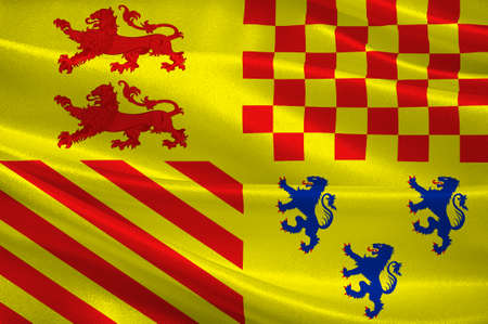 Flag of Correze is a department in south-western France. 3d illustration