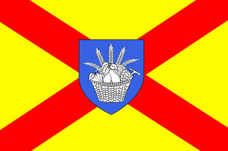 Flag of Bobigny is a commune and capital of the Seine-Saint-Denis departement, as well as the seat of the Arrondissement of Bobigny, France. 3d illustration